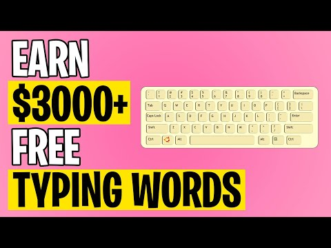 Earn $3000+ For TYPING WORDS (Make Money Online 2021)