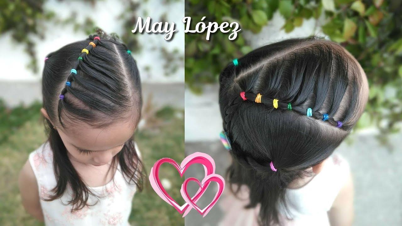 Peinado Para Ninas Con Ligas Arcoiris Peinados Faciles Para La