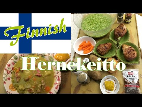 Finnish Cuisine: Thursday's Split Pea Soup (In Finnish and English)