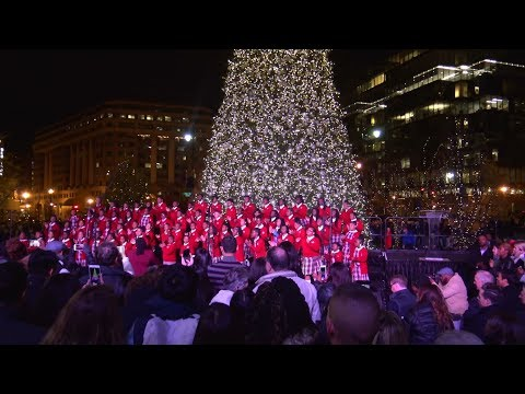 4th Annual CityCenterDC Holiday Tree Lighting 2017 NW Washington, DC (4K)