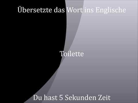 Toilette Deutsch Englisch Youtube