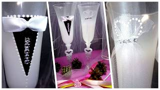 Обзор свадебных бокалов «Торжество» / Интернет-магазин «Счастливый Купидон»