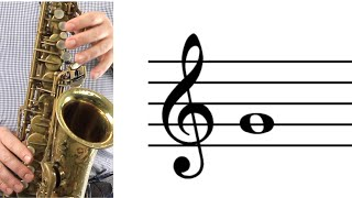 ALTO SAX: How to Play G