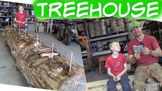 Timber Framed Tree House Ladder | 35