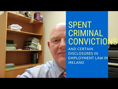Spent Criminal  Convictions and Certain Disclosures Law, 2016