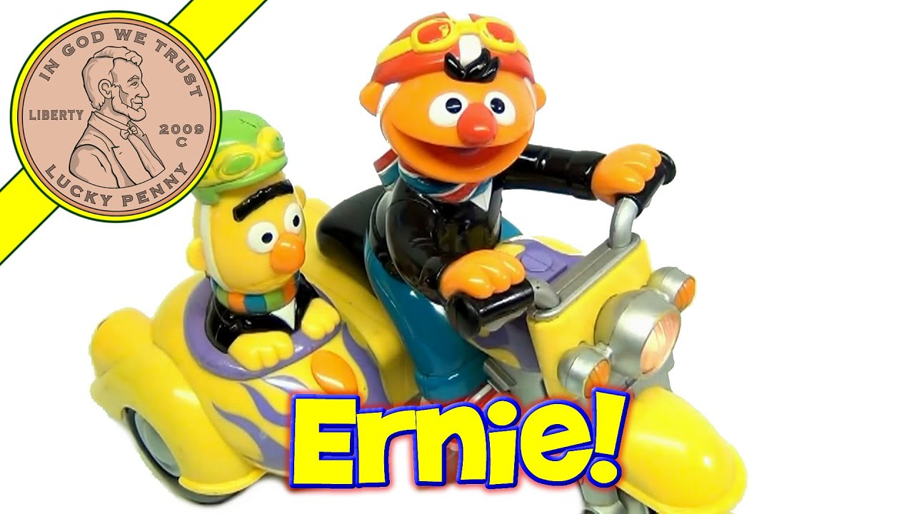 Fisher-Price Sesame Street Bert and Ernie Revin' Sounds Motorcycle Baby Toy - YouTube
