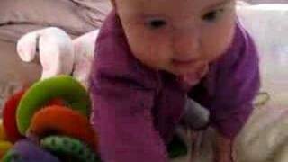 Zoe thinks about crawling