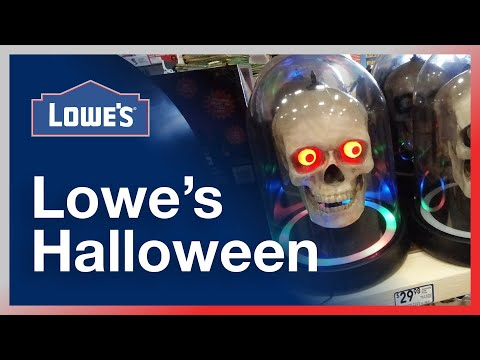 lowe's-halloween-decorations,-animatronics,-toys-&-inflatables---store-walkthrough-/-merchandise