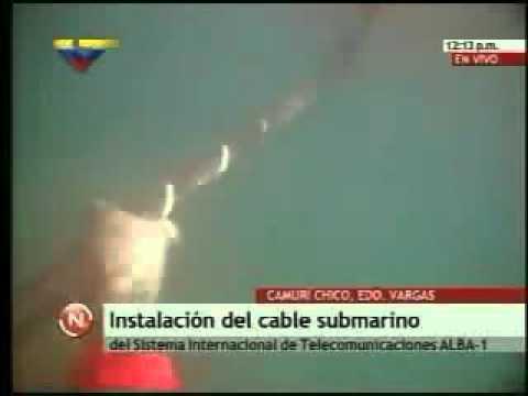 Instalacin del cable submarino entre Venezuela y Cuba