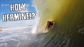 surfing tropical storm hermine in new jersey