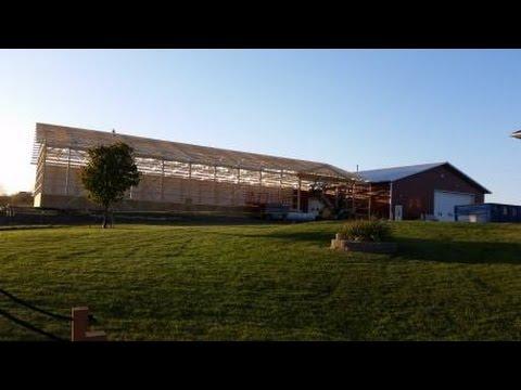 Building A Morton Pole Barn Addition Youtube