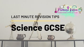 Last Minute Revision Tips for GCSE Science