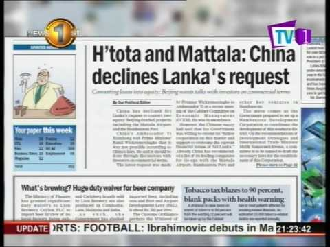 News 1st Govt. denies newspaper report on China declining debt-equity offer