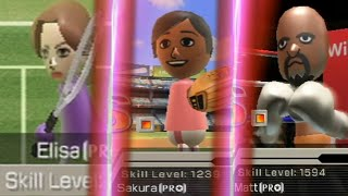 beating every wii sp๐rts boss in one video raging and funny moments