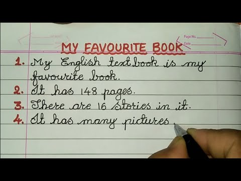 My Favourite textbook Essay in English Cursive Handwriting ✍@Sunflower