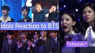 Idols Reaction to BTS (TWICE, EXO, TXT, IU...)
