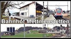 Small Train Station / Kleiner Bahnhof Mettmenstetten im Kanton Zürich, Schweiz 2020