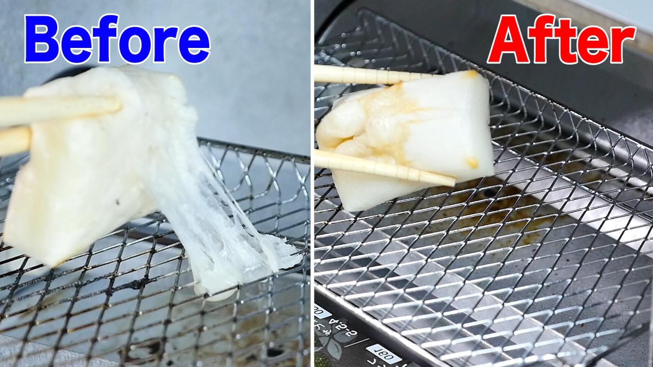 トースターの網に餅がくっつかない焼き方裏ワザ - YouTube