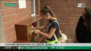 Жительница Караганды открыла мини-библиотеку во дворе