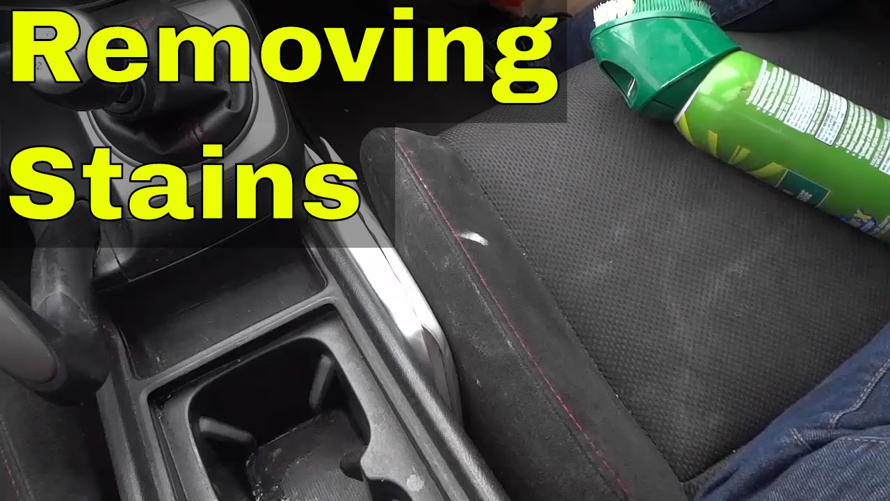 removing stains from car seats with upholstery cleaner youtube. Black Bedroom Furniture Sets. Home Design Ideas