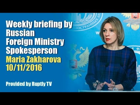 Briefing by Maria Zakharova, November 10, 2016