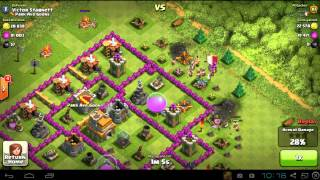 Clash of Clans - Defending Town Hall 7 against 179 Lv5 Barbarians - 2014-02-27