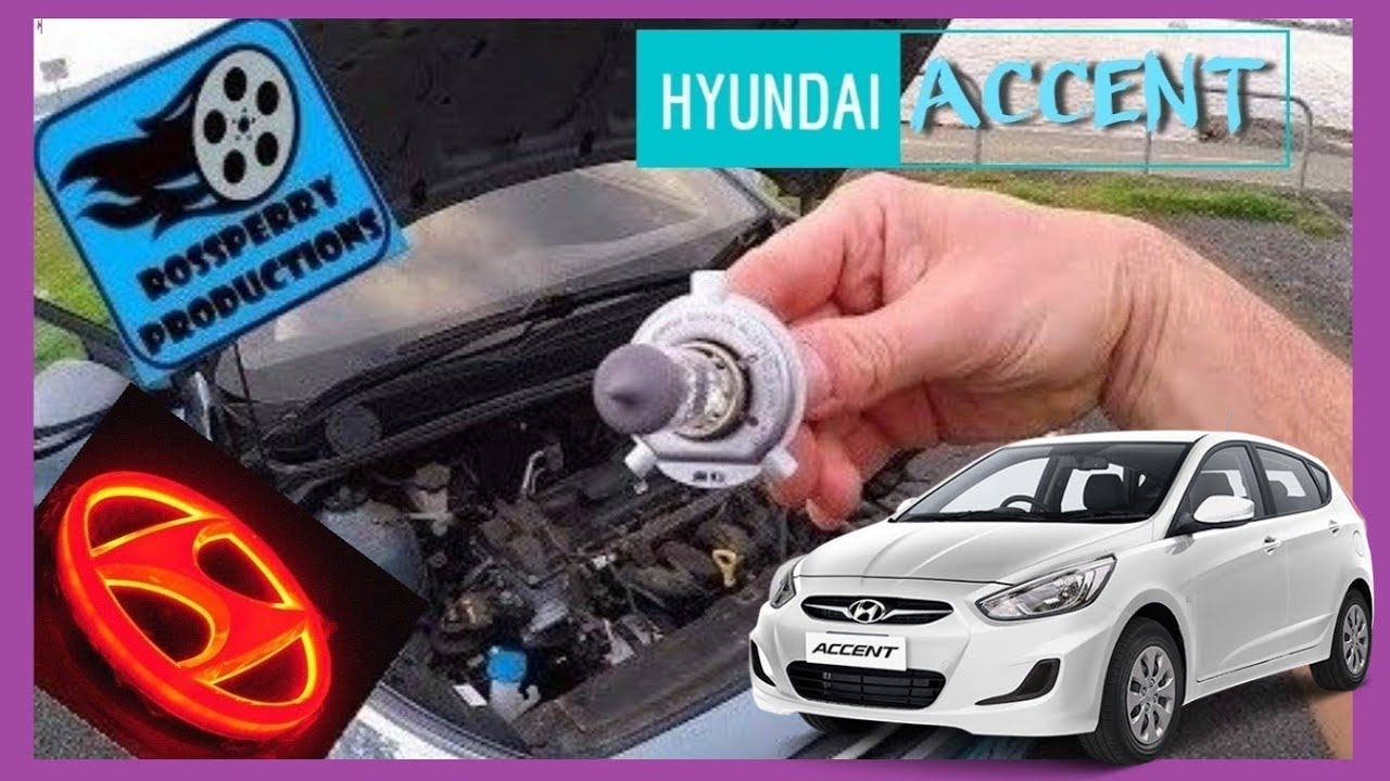Hyundai Accent How To Replace Headlight H4 Bulb / Globe Replacement  Installation Tutorial - YouTube | Hyundai Accent 2012 Headlight Bulb |  | YouTube