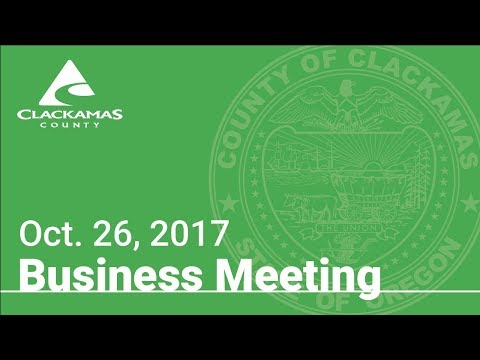 Board of County Commissioners' Meeting Oct. 26, 2017