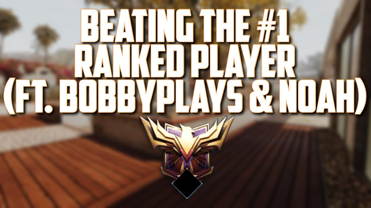 BEATING The #1 RANKED Player! Bolu (ft. BobbyPlays and Noah)