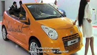 Maruti suzuki A-star cabriolet video