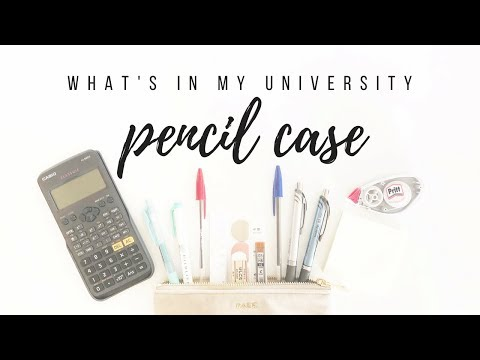 What's in my pencil case - Stationery essentials for university fall 2018 | studytee