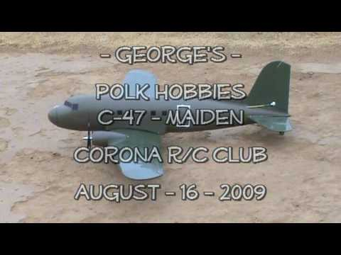 Corona R/C Club - George's Polk Hobbies C-47 - Maiden - 5 Paratrooper Drop