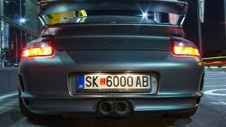 CRAZY Porsche GT3 w/ illegal exhausts - Hard revs, Drift, On board, Accelerations and more