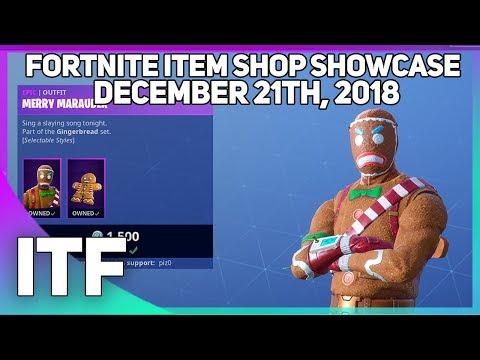 Fortnite Item Shop GINGERBREAD SKINS ARE BACK! [December 21st, 2018] thumbnail