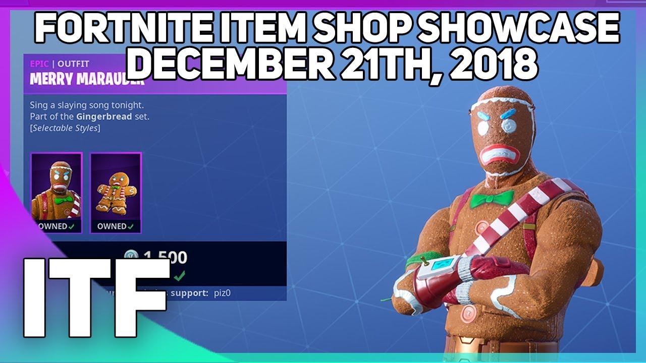 Fortnite Item Shop GINGERBREAD SKINS ARE BACK! [December 21st, 2018]