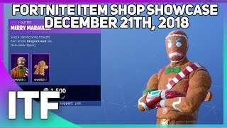 Fortnite Item Shop GINGERBREAD SKINS ARE BACK! [December 21st, 2018]