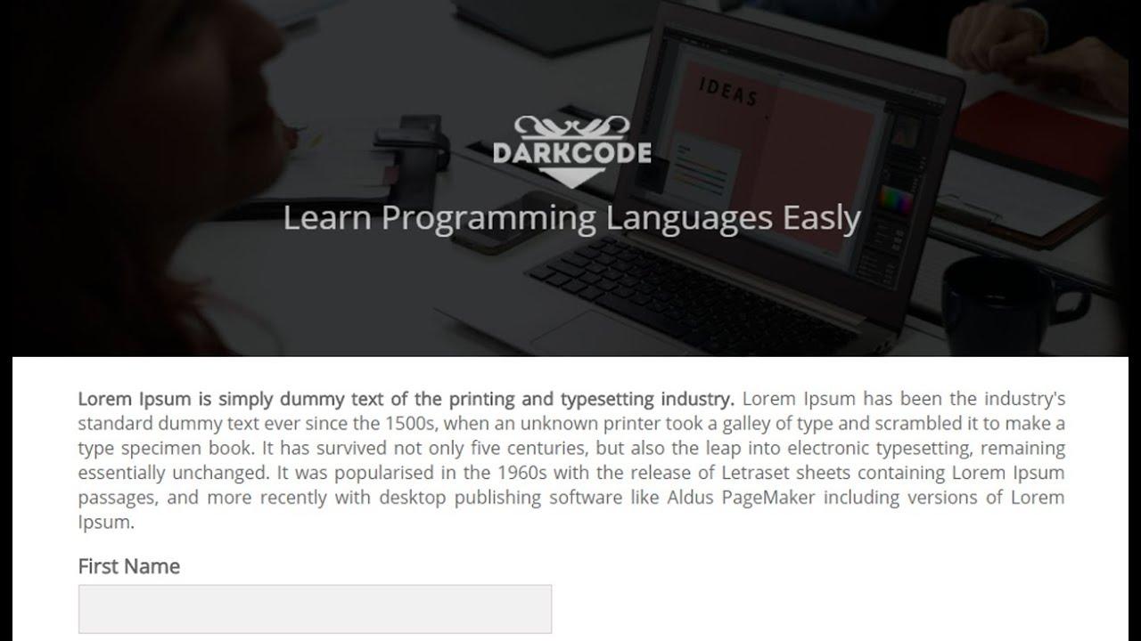Make An Awsome Form Using HTML & CSS