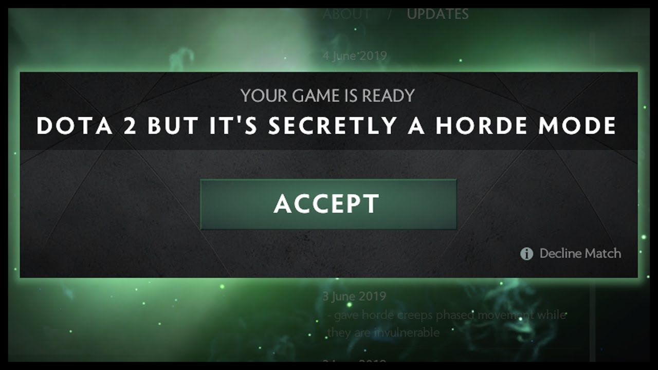 Dota 2 But It's Secretly A Horde Mode