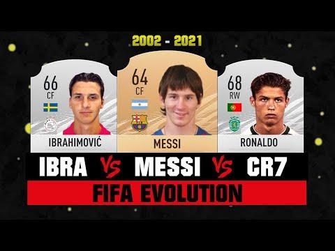Ibrahimovic VS Messi VS Ronaldo FIFA EVOLUTION! 😱🔥 FIFA 02 - FIFA 21