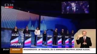 Prezidentská superdebata 9 kandidátů - finále ČT24 - 10.1.2013