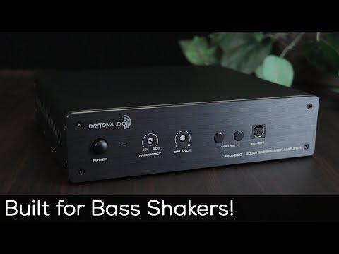 Dayton Audio BSA-200 bryggningsbar förstärkare med lågpassfilter