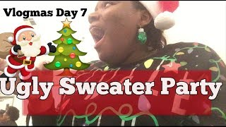 Vlogmas Day 7| Ugly Sweater Party