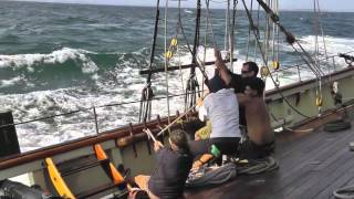 Sailing the Pride of Baltimore II