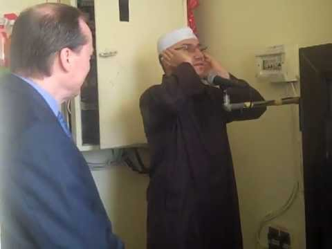 British Ambassador to Algeria listening to Adhan