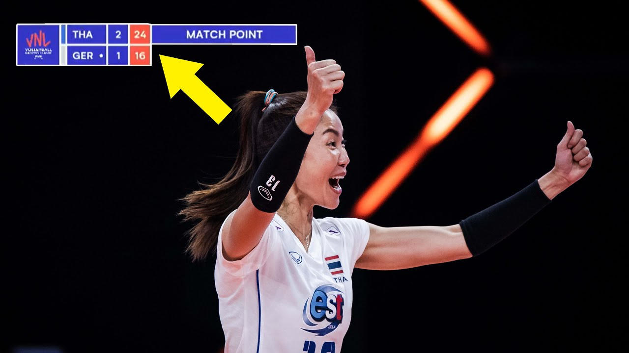 This is the GREATEST Comeback in Thailand Volleyball History !!! Women's VNL 2021
