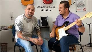 Estudando guitarra em dupla - Juninho Abrão e Victor Hugo