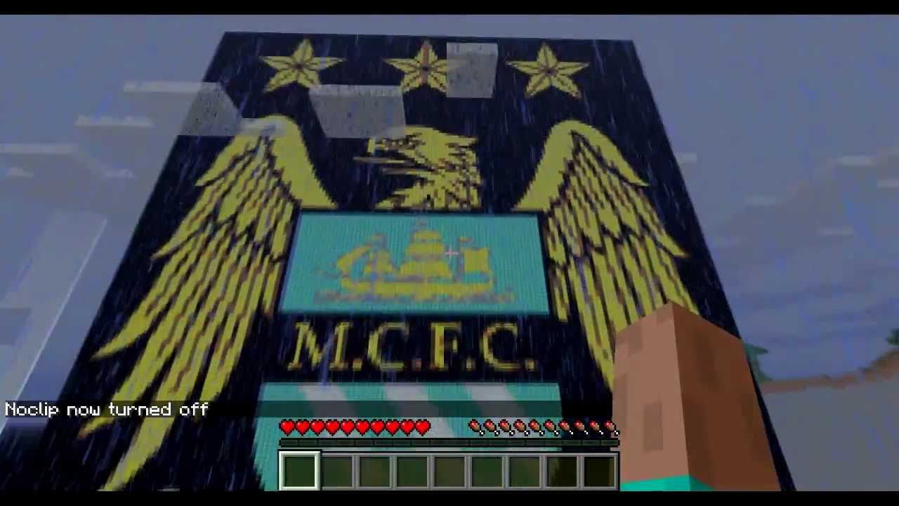 Manchester City Football Club Crest Logo Minecraft Pixel Art Youtube