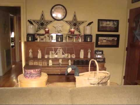 Primitive Decor Living Room Design Ideas & Picture ...