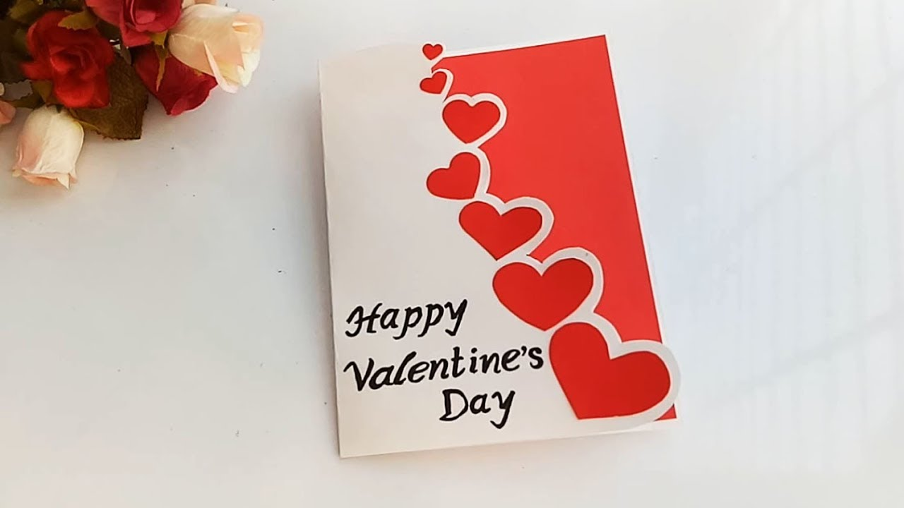 Beautiful Handmade Valentine S Day Card Idea Diy Greeting Cards For Valentine S Day Card