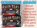 Marvel Missions trading card game Guess the Holographic cards game 20 packs